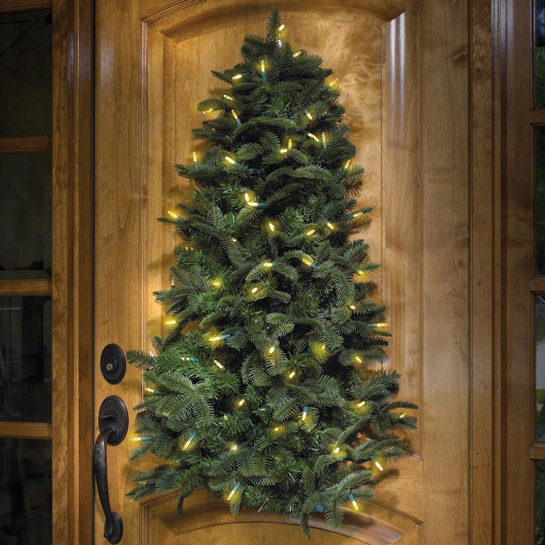 Wall Hanging Christmas Tree Pre Lit