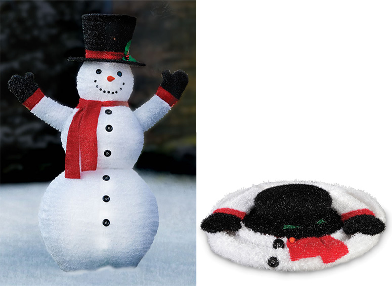 pre lit pop up snowman the green head. Black Bedroom Furniture Sets. Home Design Ideas