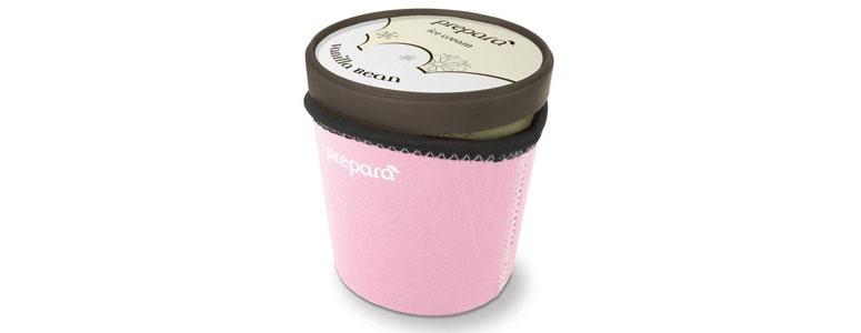 Prepara Ice Cream Pint Sleeve - Keeps Hands Warm and Ice Cream Cold