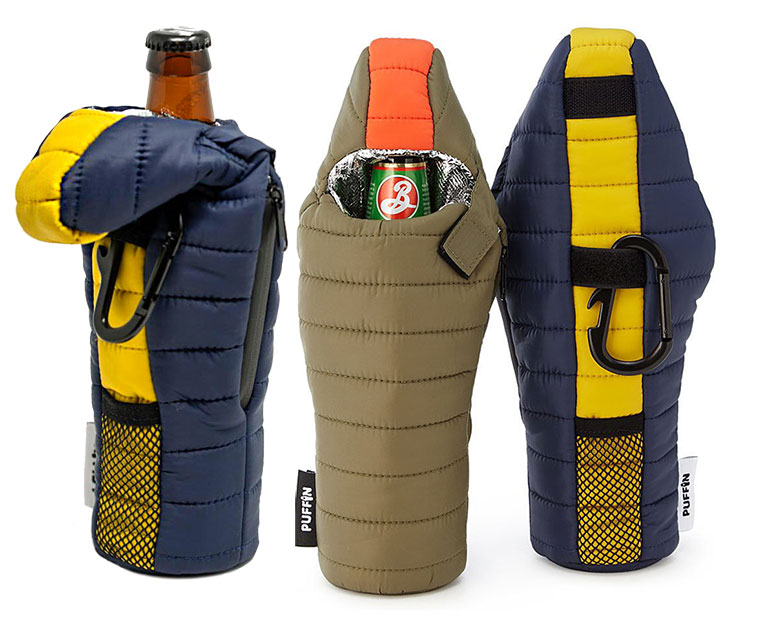 Puffin Sleeping Bag Beer Koozie