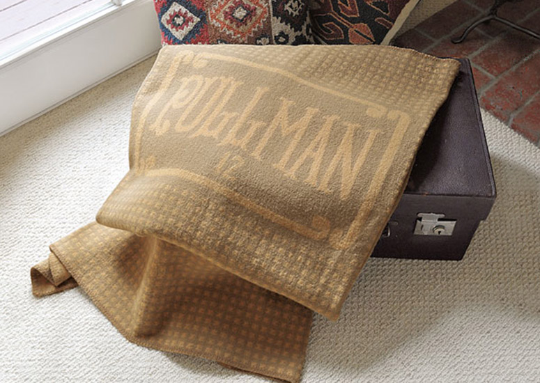 Pullman Railroad Sleeper Car Wool Blanket Replica The