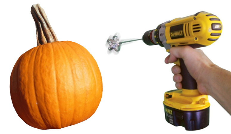 Pumpkin Gutter - Pumpkin Carving Drill Bit