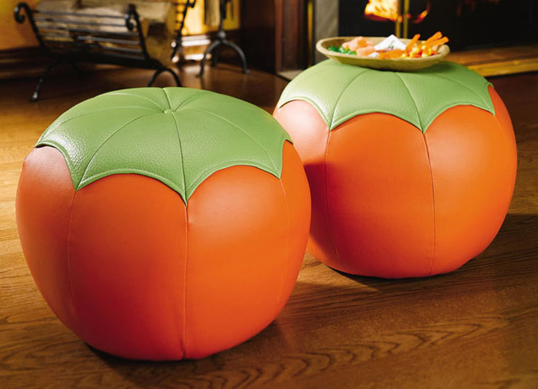 Pumpkin Ottomans