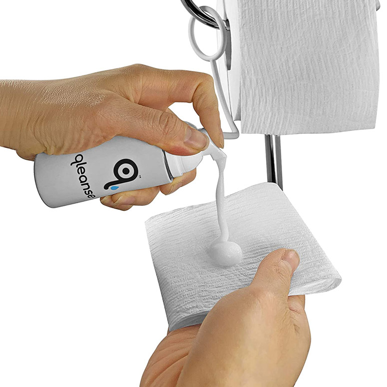 Qleanse Toilet Paper Foam Spray - Make Your Own Flushable Wet Wipes
