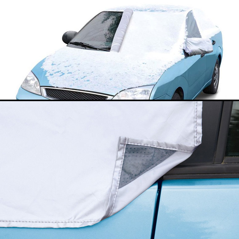 quick attach magnetic windshield snow cover the green head. Black Bedroom Furniture Sets. Home Design Ideas