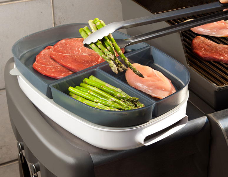 Quirky Porter - Multi-Purpose BBQ Prep and Serve Tray
