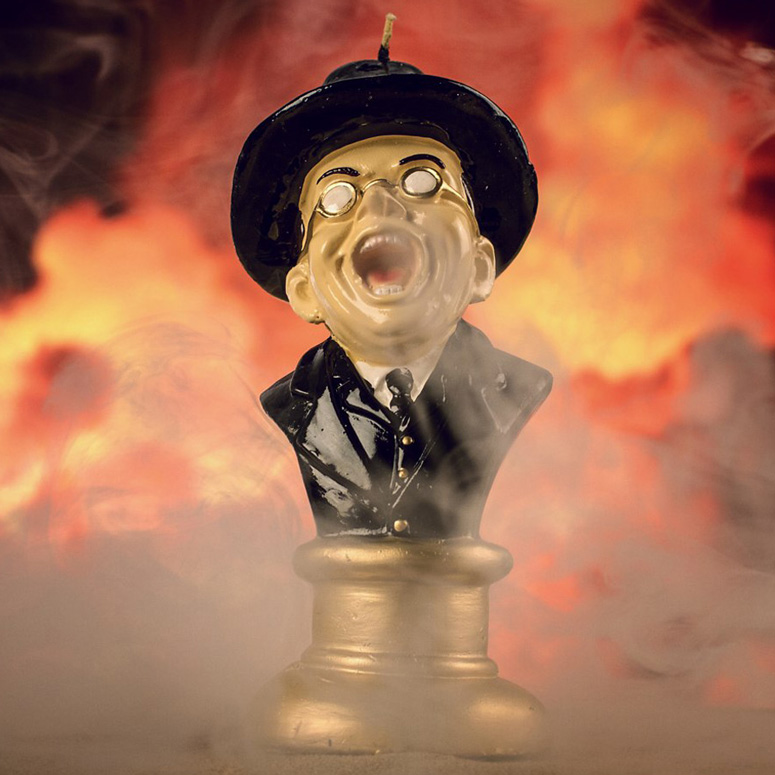 Raiders Of The Lost Ark Melting Toht Head Candle The