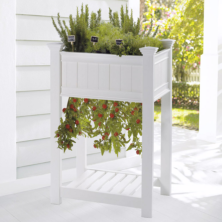 Raised Upside-Down Tomato Planter and Herb Garden