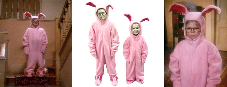 A Christmas Story Bunny Suit.Ralphie S Bunny Suit Pajamas From Aunt Clara In A Christmas