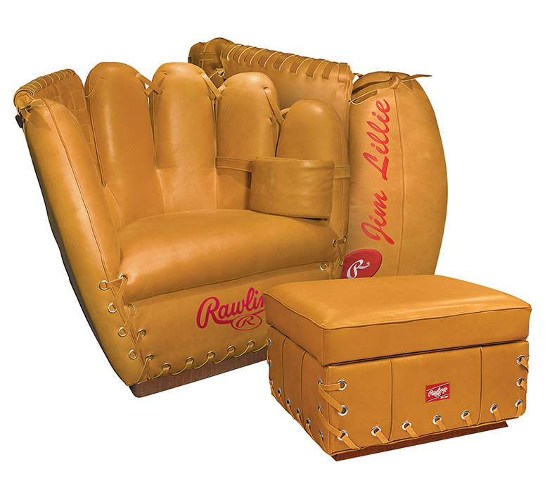 Beautiful Rawlings Leather Baseball Glove Chair