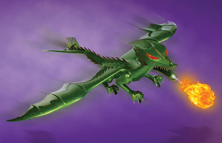 R C Jet Powered Fire Breathing Dragon The Green Head
