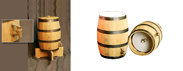 Real Wooden Barrel Drink Dispenser