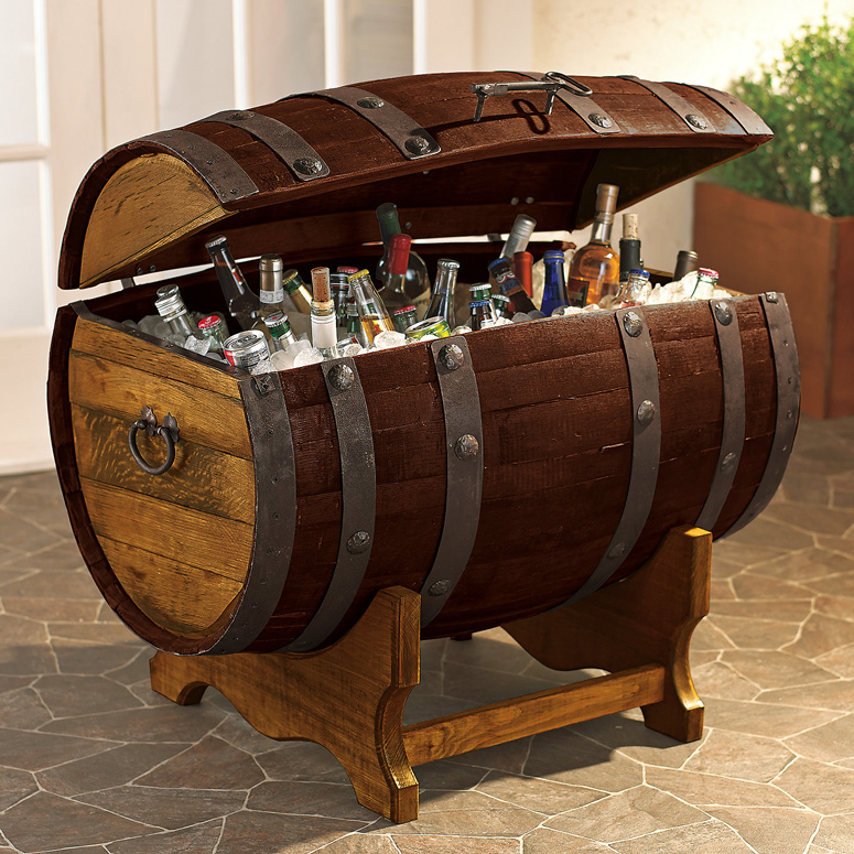 Rustic Motors 3d Custom Made Jewelry Home: Reclaimed Tequila Barrel Ice Chest