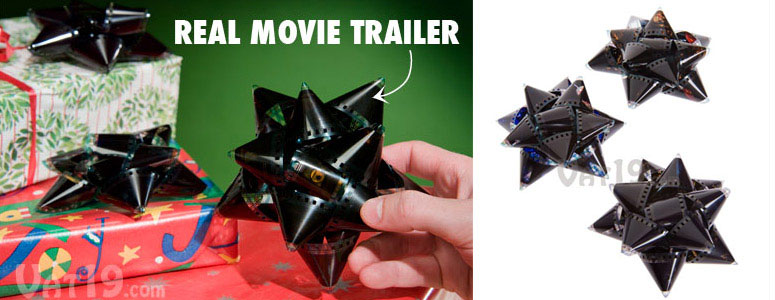 Recycled Film Reel Gift Bows - Made From Hollywood Movie Trailers