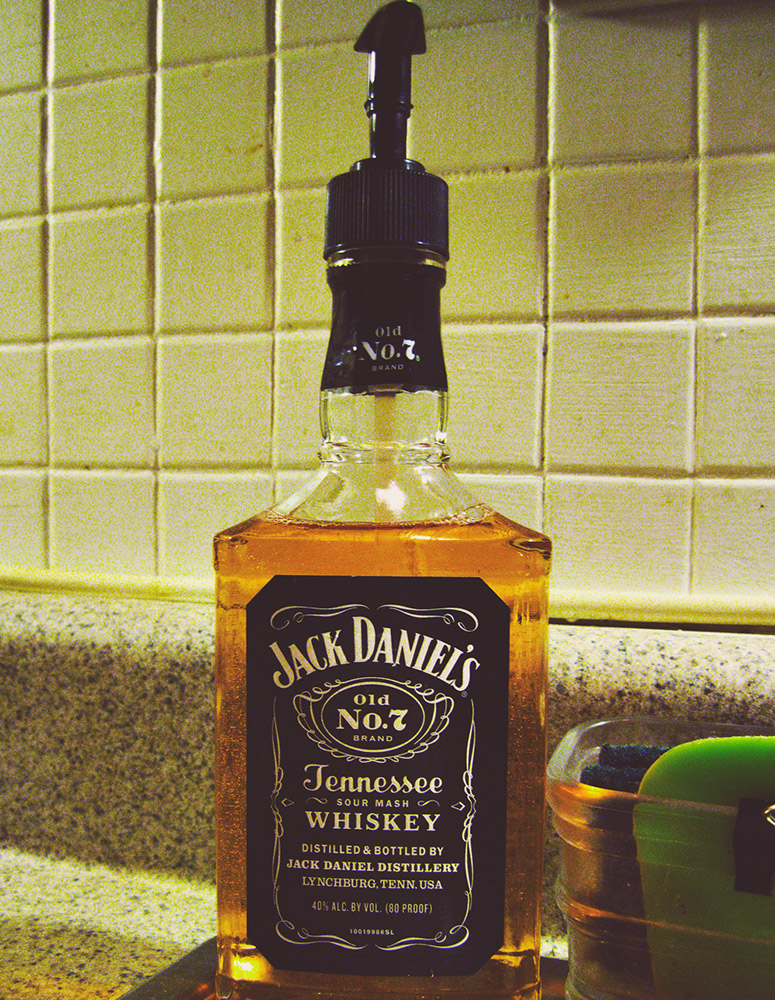 Recycled Jack Daniel's Bottle Soap Dispenser