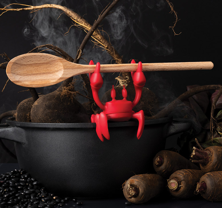 Red Crab - Spoon Holder and Steam Releaser
