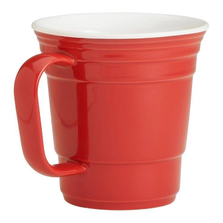Red Party Cup Ceramic Coffee Mug