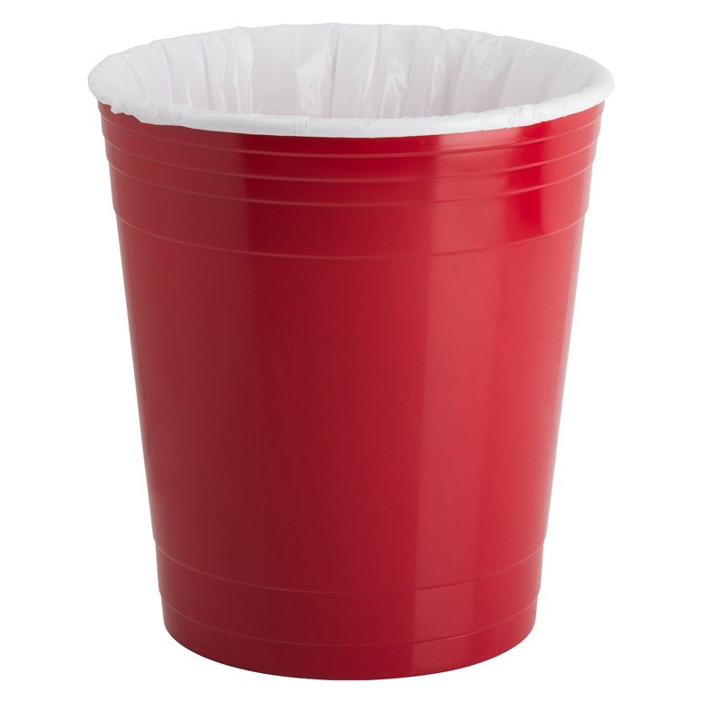 Red Party Cup Waste Basket