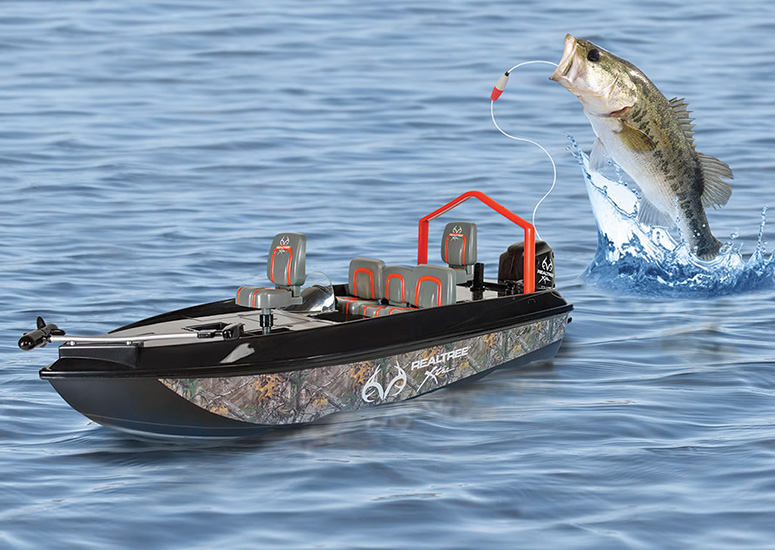 remote control fish catching boat the green head
