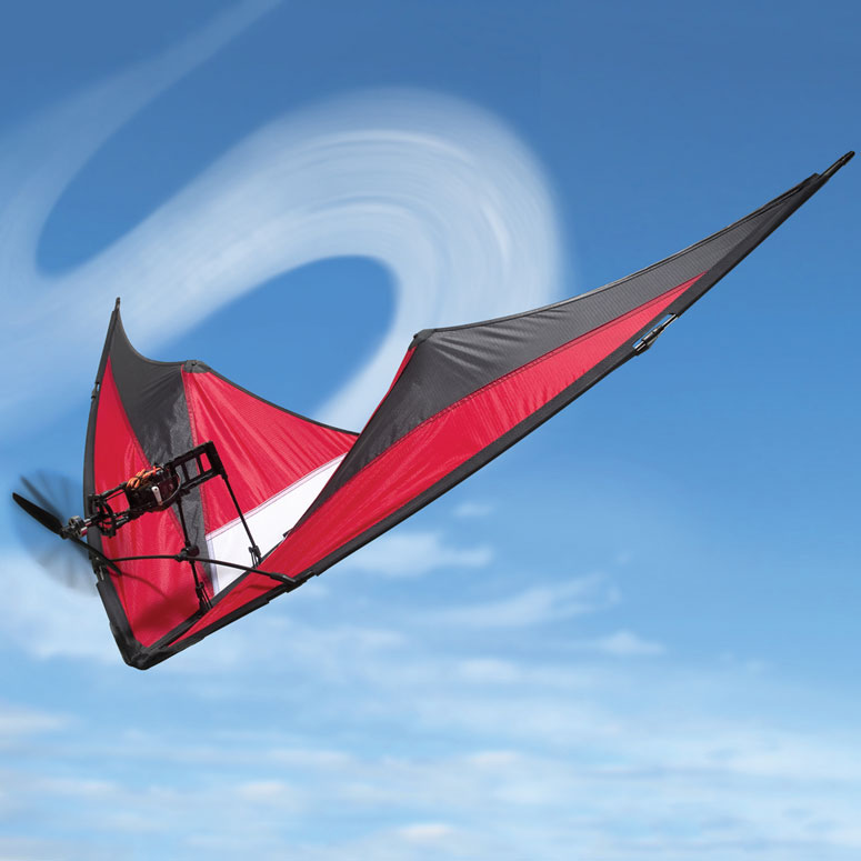 Remote-Controlled Motorized Stunt Kite - The Green Head