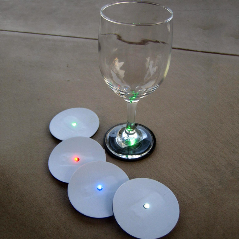 Reusable Led Wine Glass Base Lights The Green Head