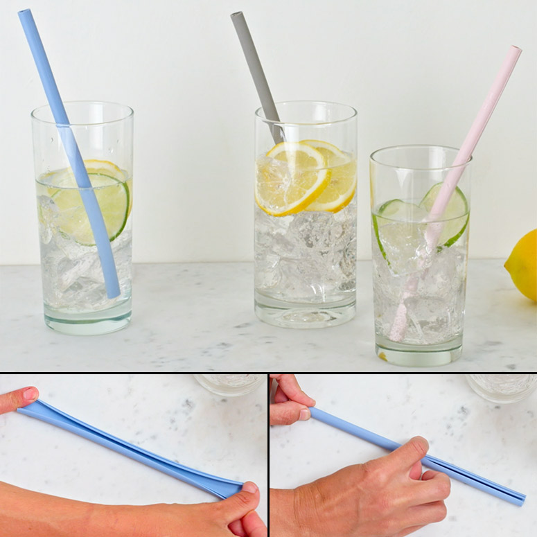 Reusable Silicone Straws That Split Apart For Easy Cleaning