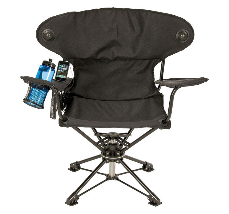 Revolve Chair Swiveling Portable Chair With Speakers
