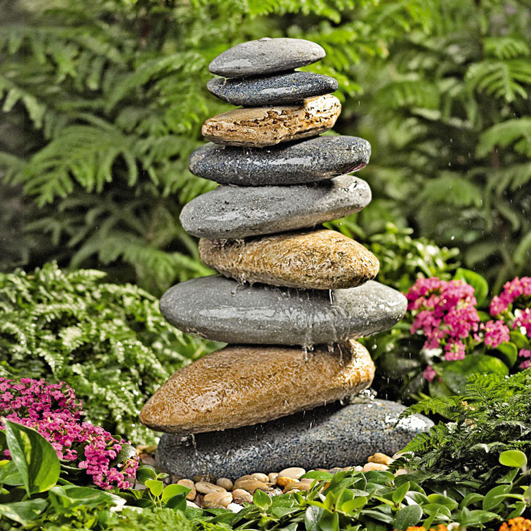 Riverstone garden fountain the green head for Stone garden waterfall