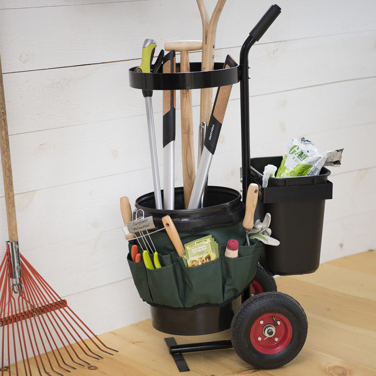 Rolling Garden Tool Storage Caddy