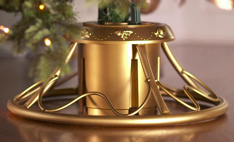 Fine Rotating Christmas Tree Stand The Green Head Easy Diy Christmas Decorations Tissureus