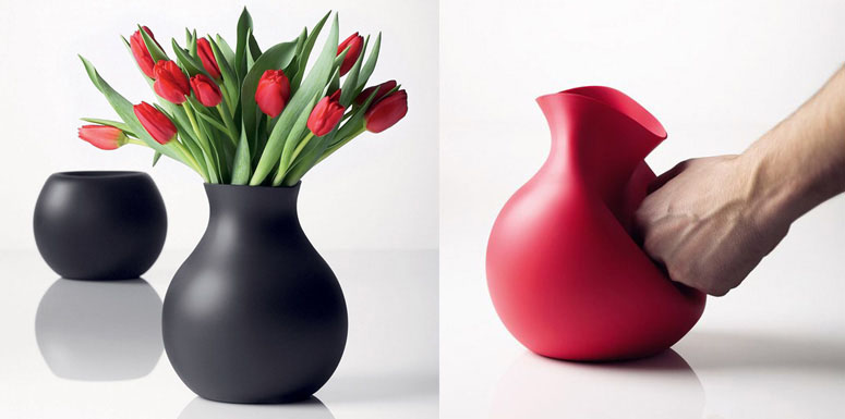 Unbreakable Rubber Vase The Green Head