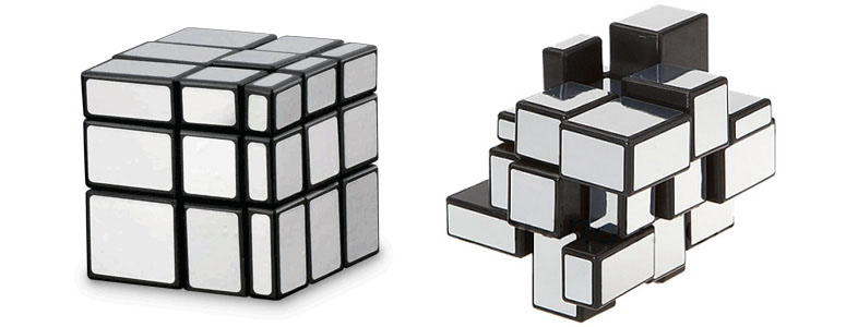 Rubik 39 s mirror blocks cube the green head for Cube miroir habitat