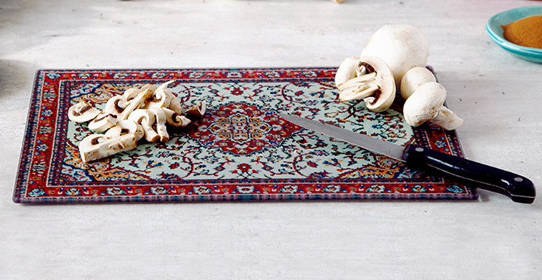 RugBoard - Persian Rug Cutting Board, Serving Platter, and Trivet