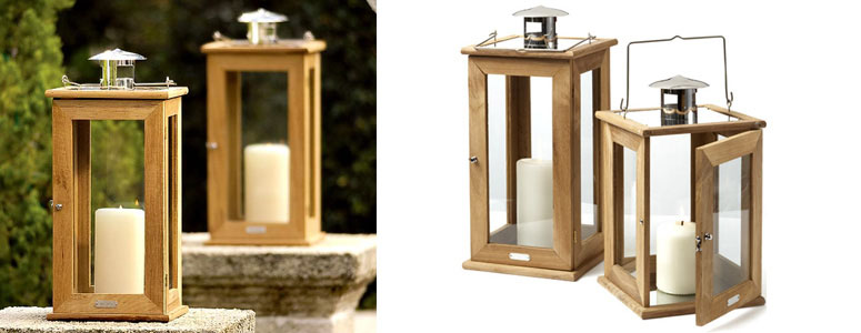 Rugged Teak Lanterns
