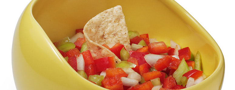 Salsabol - Raised Edge Salsa Bowl For Proportional Scooping