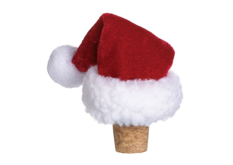 Santa Claus Hat Wine Bottle Stopper