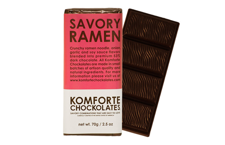 Savory Ramen Noodle Chocolate Bar