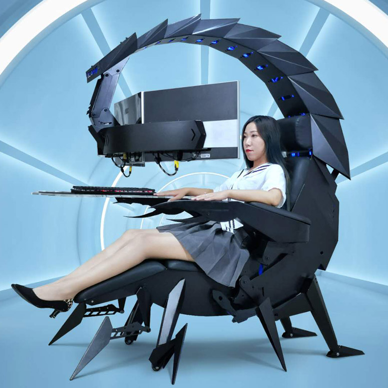 Scorpion Chair - Futuristic Zero Gravity Reclining Workstation / Gaming Chair