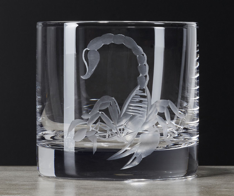 Scorpion Double Old-Fashioned Glass