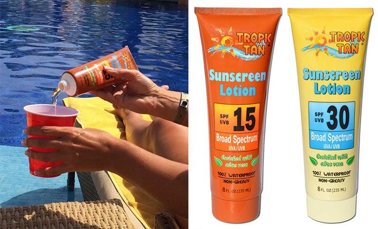 Secret Sunscreen Bottle Flasks The Green Head