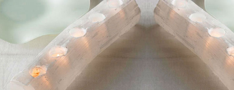 Selenite Tealight Log