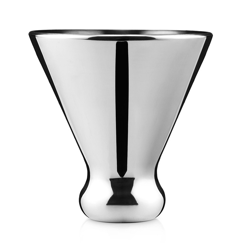 Self-Chilling Stainless Steel Martini Glass