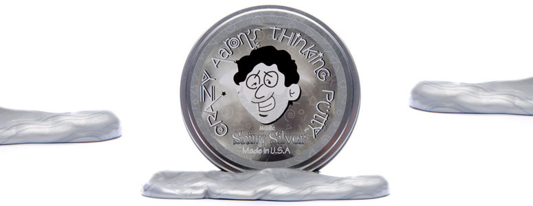 Shiny Silver Metallic Thinking Putty