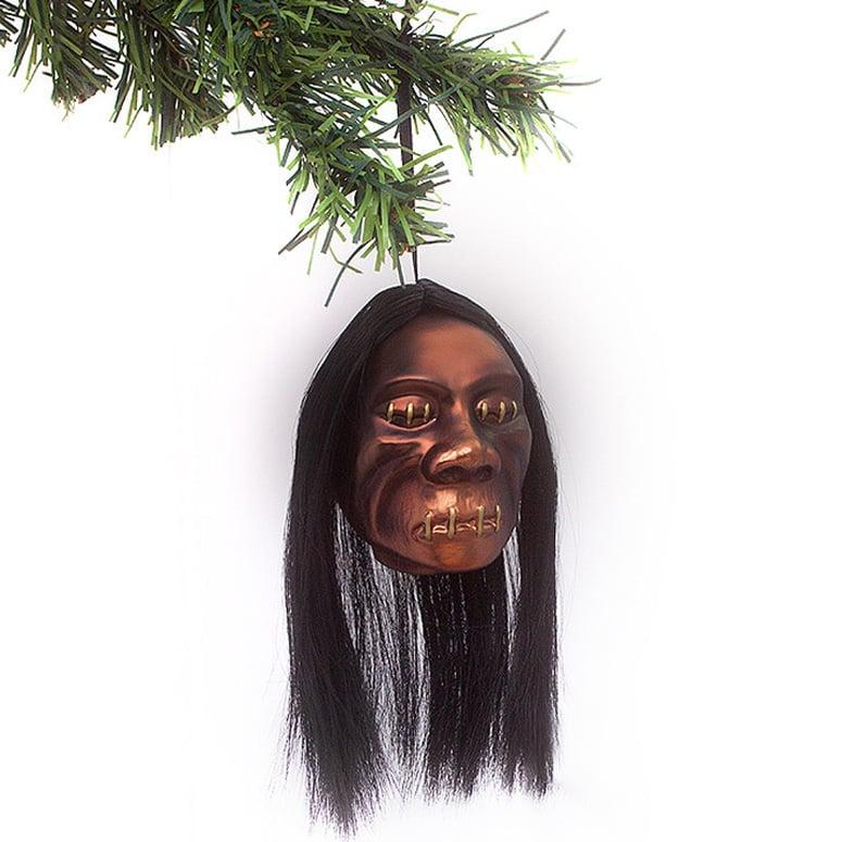 Shrunken Head Christmas Ornament