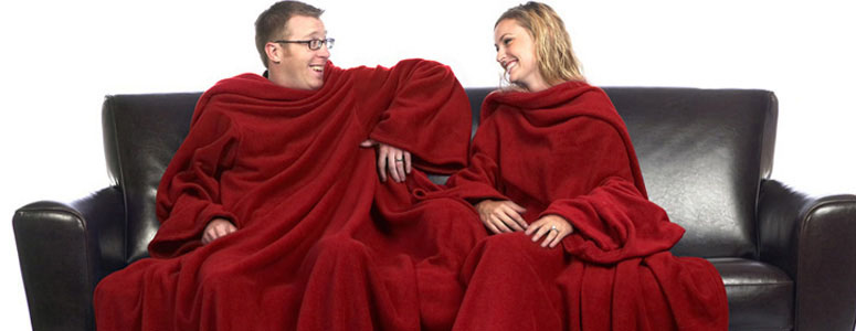 Siamese Slanket - Blanket with Sleeves for Two!