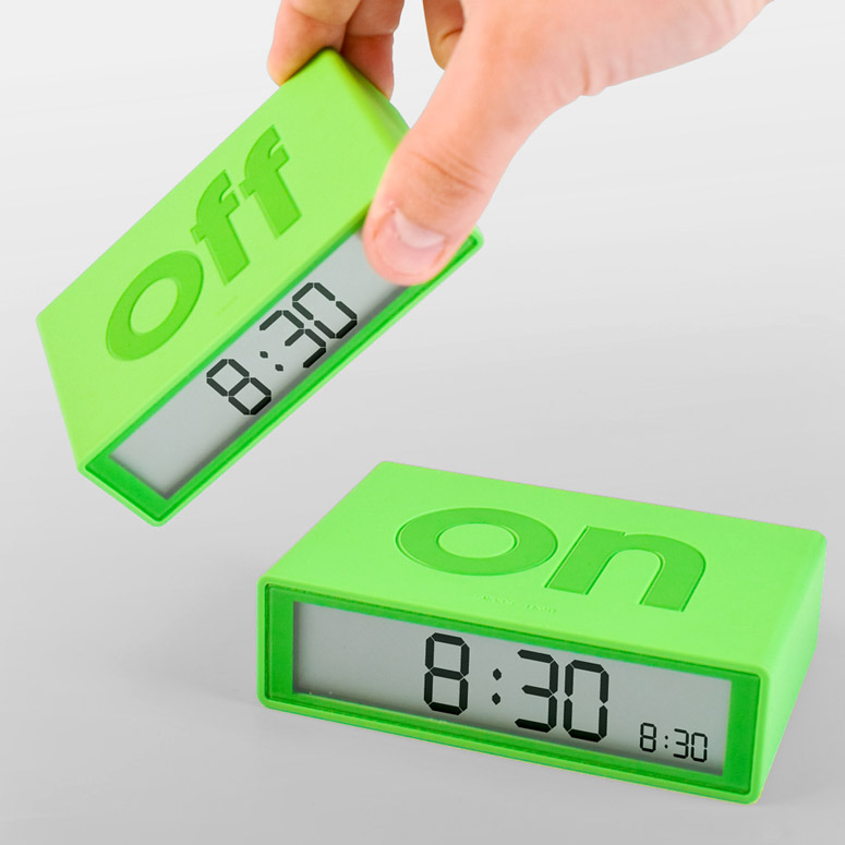 Simple Flip Over Alarm Clock The Green Head