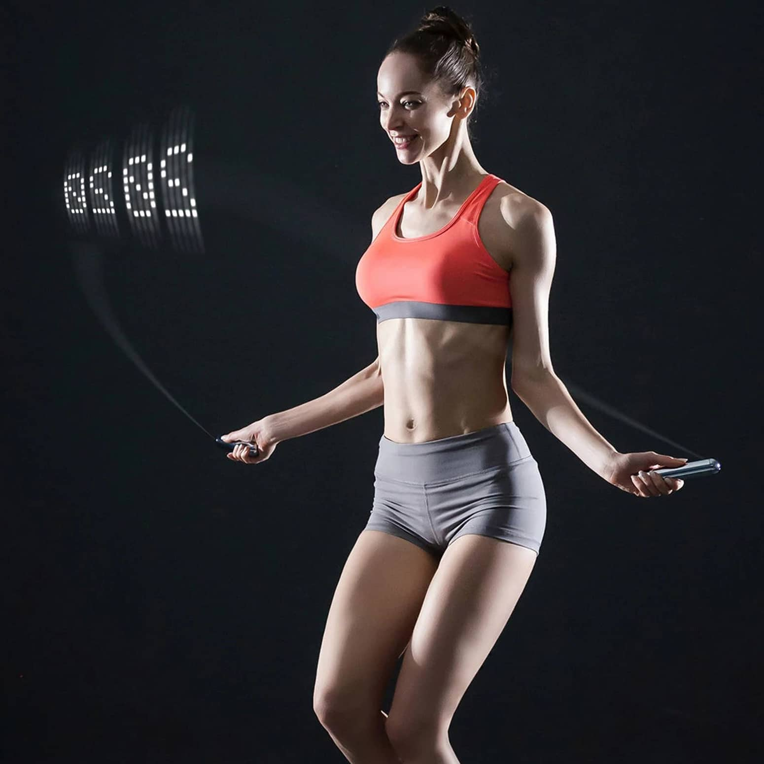Smart Rope - LED Jump Rope Displays Count In Mid-Air