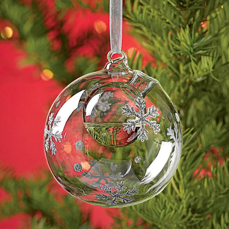 Snowflake Bubble Ornament Essential Oil Diffuser The