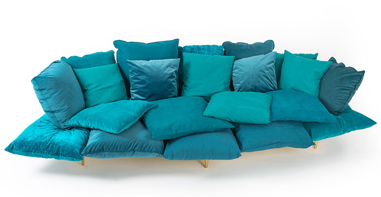 Sofa Made From Pillows