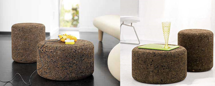 Attrayant Solid Cork Tables U0026 Stools By Designer Jasper Morrison